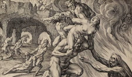 Satan-devil-depiction-in-art-history-Johannes-Sadeler-Hell-1590